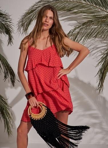 Morhipo Beach Puantiyeli Elbise Kırmızı